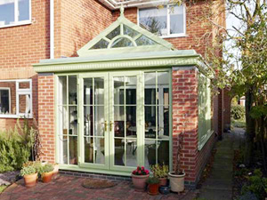 REHAU COLOURED UPVC CONSERVATORY